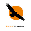 Logo eagle on the sun # Vector