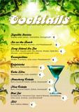 Fototapety Cocktailkarte Vorlage