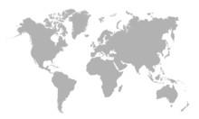 "Постер, картина, фотообои ""Vector illustration of blank world map"""