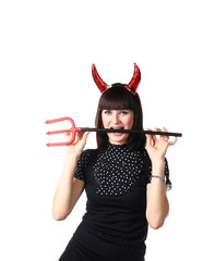 Woman Dressed As An Imp
