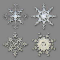 Delicate snowflake collection