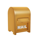 golden mail box