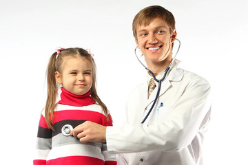 The doctor and the little girl