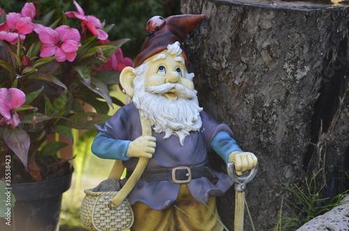 Foto op Canvas Feeën en elfen Garden - Gnome
