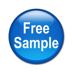 Boton brillante texto Free Sample