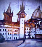 Fototapety Рисунок на ограде