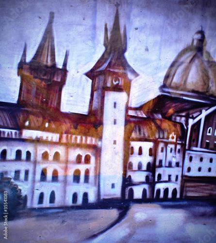 Рисунок на ограде