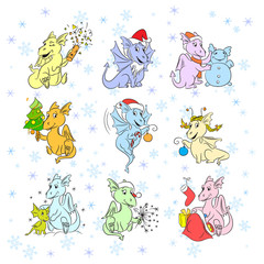 Little dragons in New Year