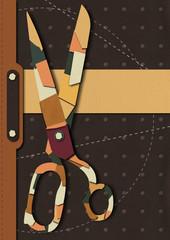 Cover leather scissors