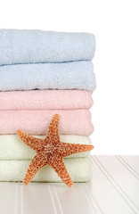 towels with star fish
