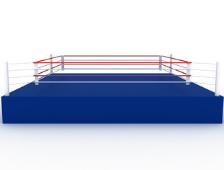 Blue boxing ring on a white background №2
