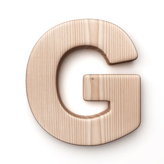 The letter G in wood
