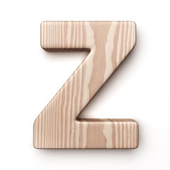 The letter Z in wood