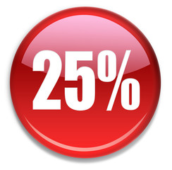 Button 25 % Rabatt