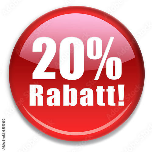 Button 20 % Rabatt