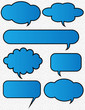 Illustration Of Funky Speech Bubbles