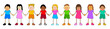 Vector illustration of children from various ethnic group