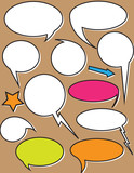 Comic Vintage Speech Bubbles