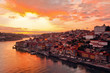 Porto at river Duoro, sunset