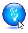 MICROPHONE Web Button (announcement communication comment vote)