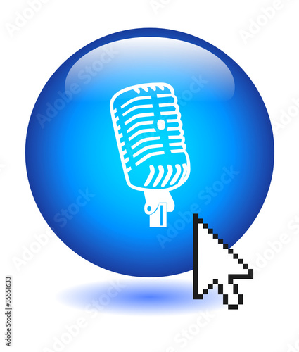 MICROPHONE Web Button (announcement communication comment vote)