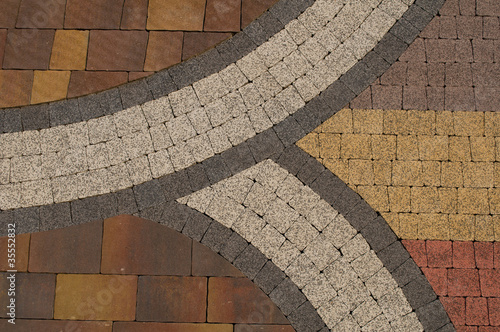 pattern on the pavement - 35552832
