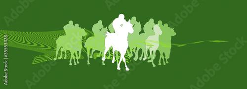 Leinwandbild Motiv horserace