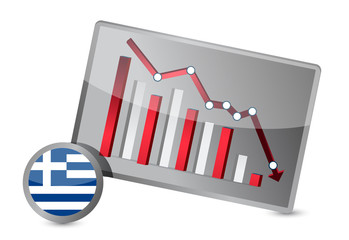 greece suffering crisis graph design