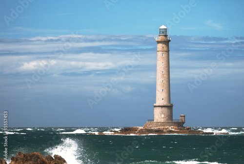 Lighthouse in the sea