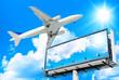 Plane Flying Giant Poster