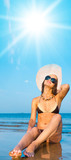 Tanning Model Pleasant Wellbeing poster