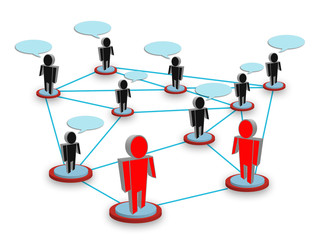 Social network concept. People standing