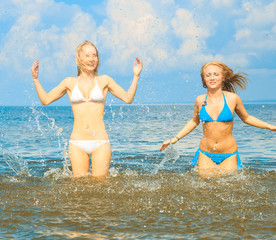 In Water Playing Girls
