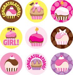 Pink Cupcake Circles