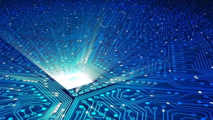 Data processing, CPU, Circuit board - Loop
