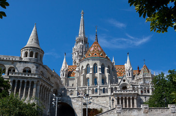 Fisherman´s Bastion, Buda castle in Budapest