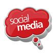 3d Social Media Wolke