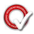"""Tampon Publicitaire """"NOUVEAU"""" (publicité nouveauté découverte)"""