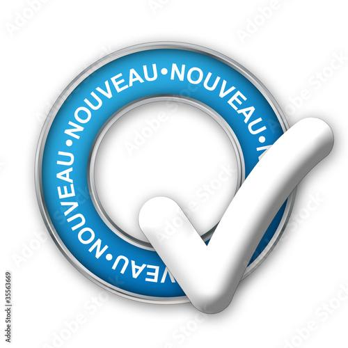"""Tampon Publicitaire """"NOUVEAU"""" (découvrir nouveautés publicité)"""