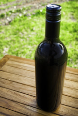 Black Whine Bottle