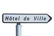 Panneau indicateur ' Hôtel de ville '
