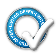 """LIMITED OFFER"" Marketing Stamp (sale special offers web button)"