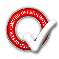 """""""LIMITED OFFER"""" Marketing Stamp (special offers sale web button)"""