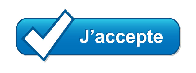 Bouton Web J'ACCEPTE (accepter valider inscription autorisation)