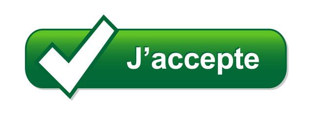 Bouton Web J'ACCEPTE (accepter inscription s'abonner s'inscrire)