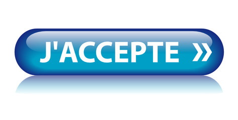 "Bouton Web ""J'ACCEPTE"" (accepter valider confirmer continuer)"