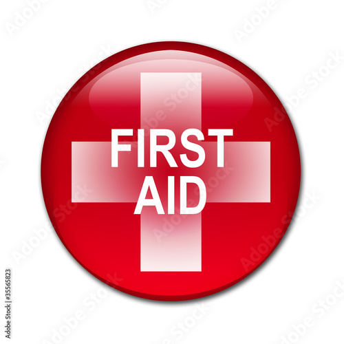 Boton brillante FIRST AID