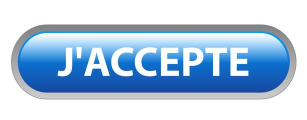 Bouton Web J'ACCEPTE (accepter conditions générales contrat ok)