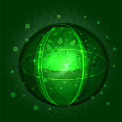 vector abstract unknown green planet
