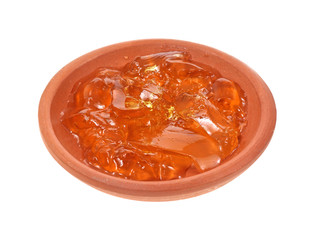 Apple jelly in small bowl